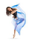 Vibrant Dancer #7. This is an image of a vibrant young female dancer of latin heritage Stock Image