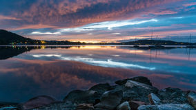 Vibrant Dawn Waterscape over the Bay. Tascott & Koolewong, Central Coast, NSW, Australia Royalty Free Stock Image