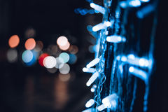 Vibrant defocused city decoration Stock Photography