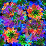 Vibrant design with multicolored flowers Stock Images