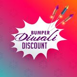 Vibrant diwali sale and discount poster design with fireworks ro Stock Photos