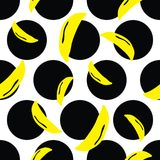 Vibrant dots banana background. A vibrant, modern, and flexible pattern for brand who has edgy style, It can use for background, wallpaper, print, card, website Royalty Free Stock Photo