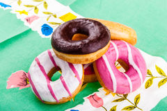 Vibrant doughnuts Stock Image