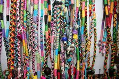 Vibrant ethnic necklaces Stock Images