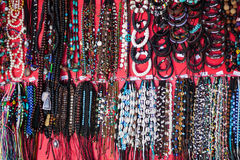 Vibrant ethnic necklaces Royalty Free Stock Image