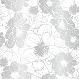 Vibrant eye catching silver & white flowers texture vector vector illustration