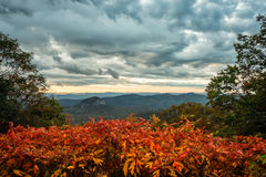 Vibrant Fall Color at Looking Glass Stock Image