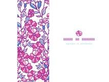 Vibrant field flowers horizontal frame seamless Royalty Free Stock Photo