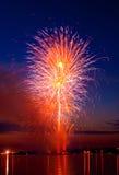 Vibrant  firework Stock Photography