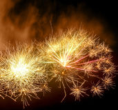 Vibrant fireworks display Stock Photos