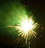 Vibrant fireworks Stock Image