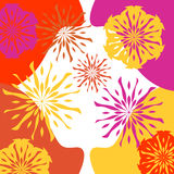 Vibrant Floral Background Stock Images