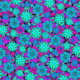 Vibrant Floral Collage Seamless Pattern Stock Images