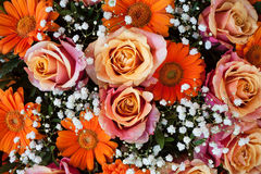 Vibrant Flower Bouquet detail Stock Images