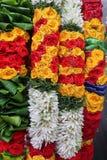 Vibrant Flower Garlands for Sale stock images