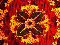 Vibrant Flower Pattern. A bright red and yellow pattern with texture Stock Images