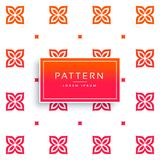Vibrant flower pattern vector background Royalty Free Stock Photography