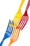 Vibrant Fork Background Imge Stock Photography