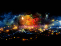 Vibrant fractal foam Royalty Free Stock Images