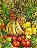 Vibrant Fruit royalty free illustration