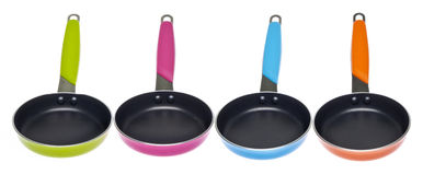 Vibrant Frying Pans Royalty Free Stock Photos