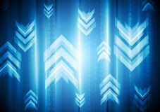 Vibrant geometry background with arrows. Vector design Royalty Free Stock Images