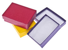 Vibrant Gift Boxes Stock Photo