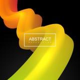 Vibrant gradient shape. Stock Image