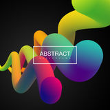 Vibrant gradient shapes. Abstract 3d colorful composition with smooth gradient shapes. Vector artistic illustration. Vibrant gradient flowing stream. Liquid Stock Photography
