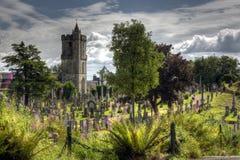 Vibrant Graveyard Stock Photography