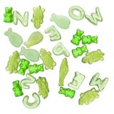 Vibrant green jelly candy Royalty Free Stock Photography