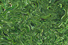 Vibrant green marbled texture. Velvet green color mix background. Stock Photos