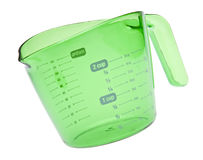 Vibrant Green Measuring Cup Royalty Free Stock Photos