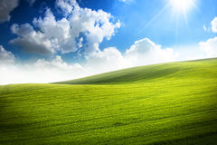 Vibrant green Valley Stock Images