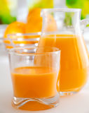 Vibrant healthy orange juice Royalty Free Stock Photos