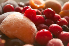 Vibrant Heap of Frozen Fruits Stock Photography