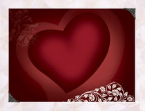 Vibrant heart. With ornamental design Royalty Free Stock Image