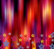 Vibrant holiday background. Background with stars stock illustration