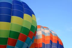 Vibrant hot air balloons Stock Photo