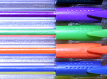 Vibrant Hues. Brilliantly colored pens Royalty Free Stock Photo