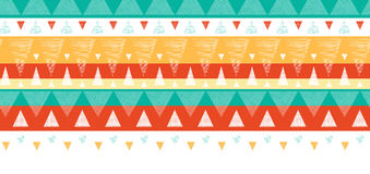 Vibrant ikat stripes horizontal seamless pattern Stock Image