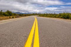 Vibrant image of highway and blue sky. Vibrant image of highway and blue calm sky Stock Photos