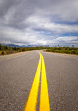 Vibrant image of highway and blue sky Stock Photo