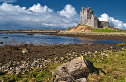 Vibrant irish castle west of ireland royalty free stock photo