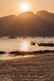 Vibrant island sunset Royalty Free Stock Photos