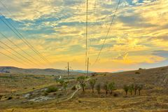 Vibrant landscape with nice skies. HDR photo shooted in Crimea stock images