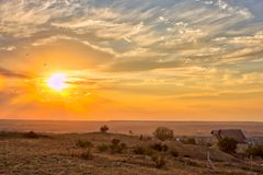 Vibrant landscape with nice skies. HDR photo shooted in Crimea stock photos