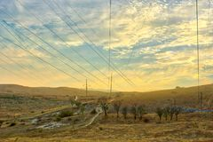 Vibrant landscape with nice skies. HDR photo shooted in Crimea stock photography