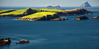 Vibrant landscape and seacape west ireland Royalty Free Stock Image