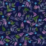 Vibrant leaf design on black background Stock Images